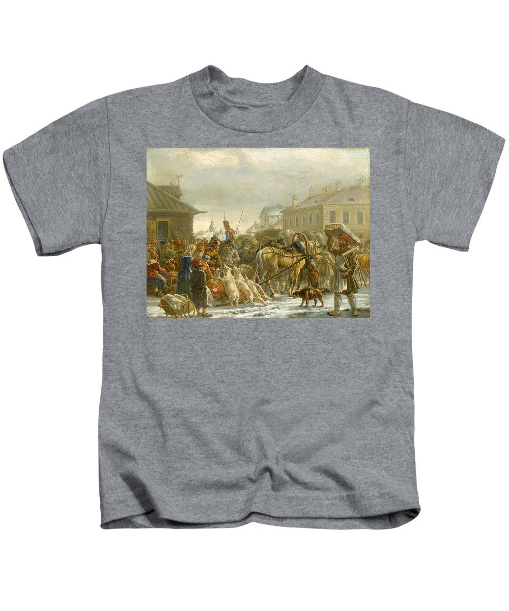 Alexander Osipovich Orlovsky (warsaw 1777 - St. Petersburg 1832) Kids T-Shirt featuring the painting Alexander Osipovich by Alexander Osipovich