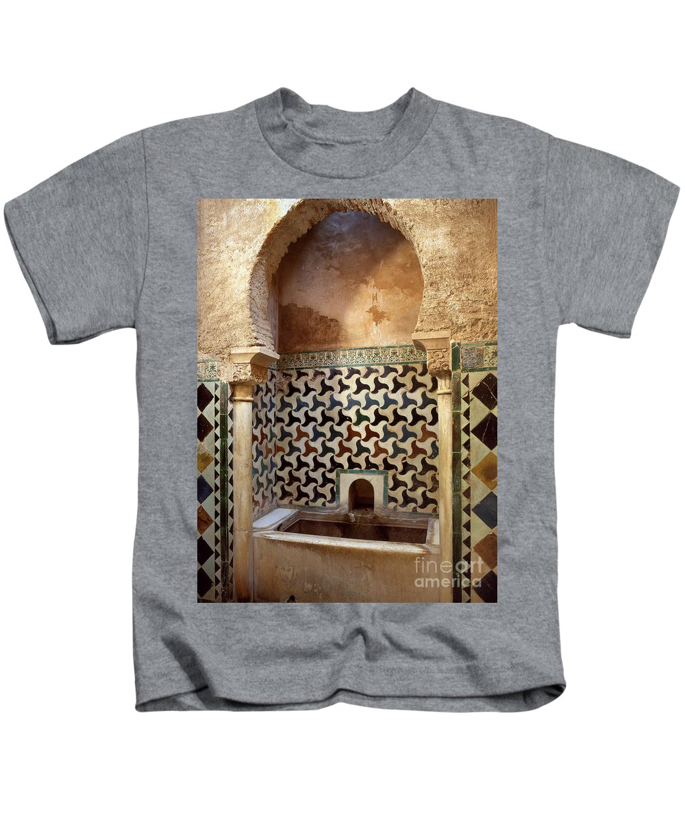 Bath Kids T-Shirt featuring the photograph Alhambra Palace Baths by Guido Montanes Castillo