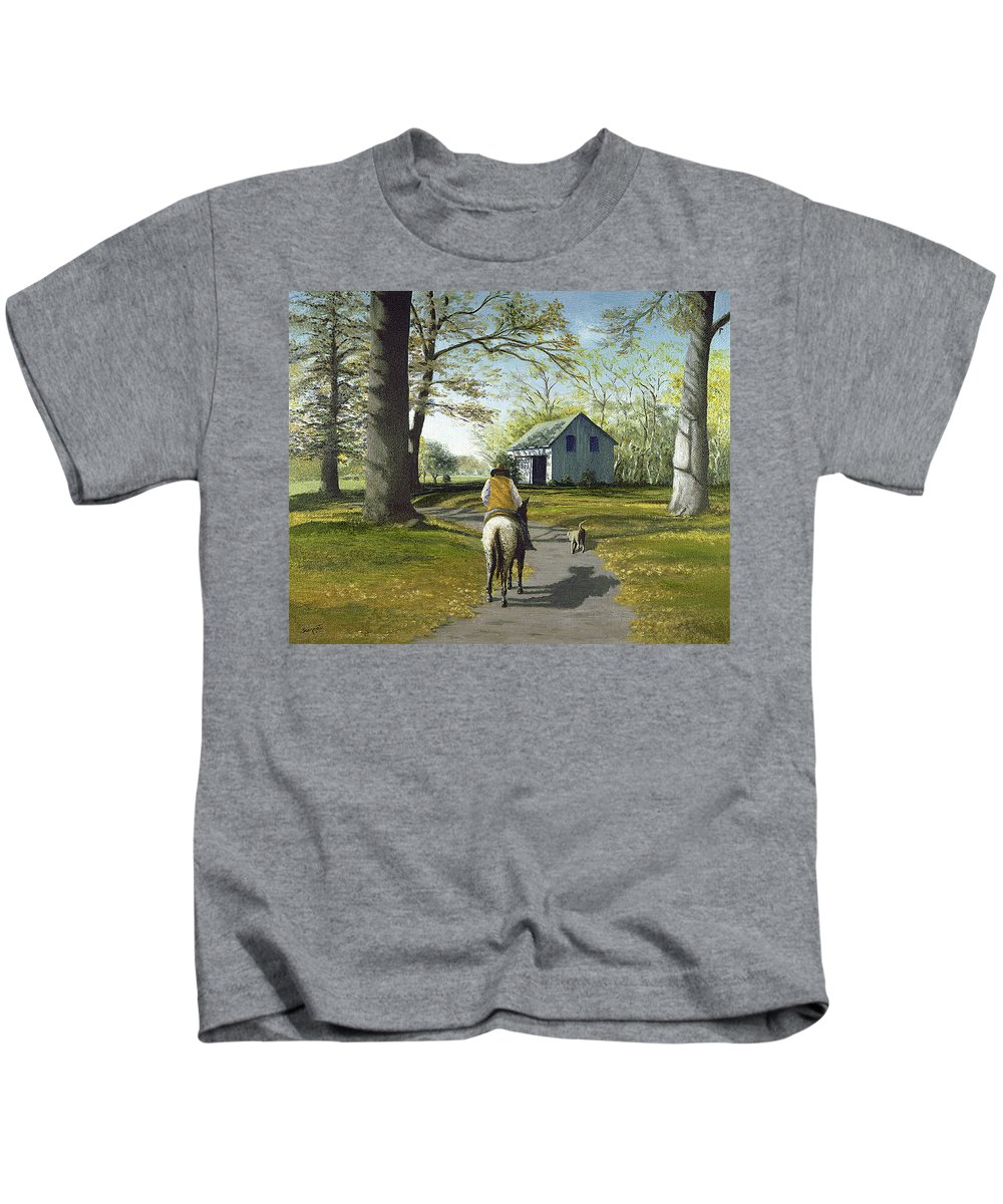 Kids T-Shirt featuring the painting Almost Home 16x20 by Tony Scarmato