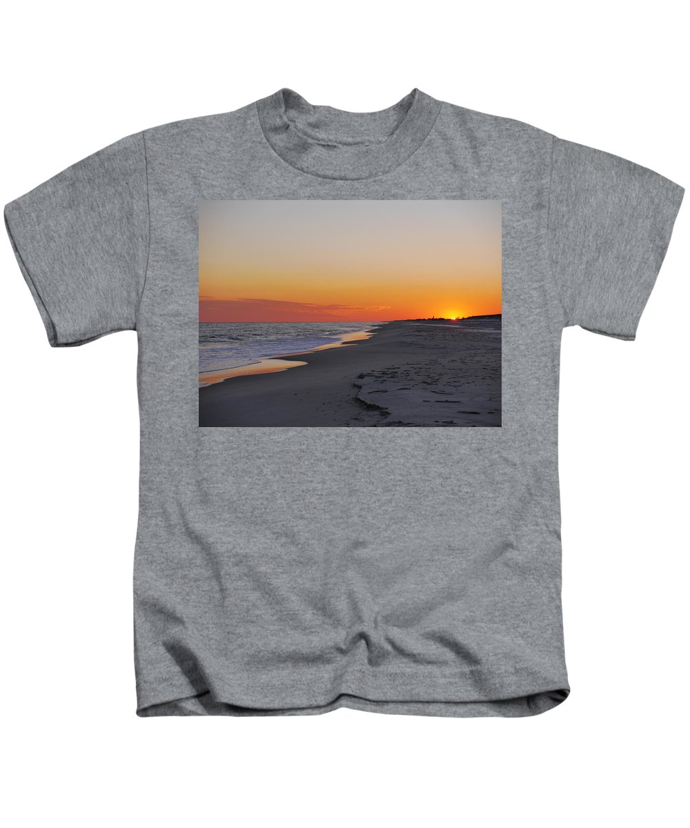 Sunset Kids T-Shirt featuring the photograph Almost Set by Jack Riordan