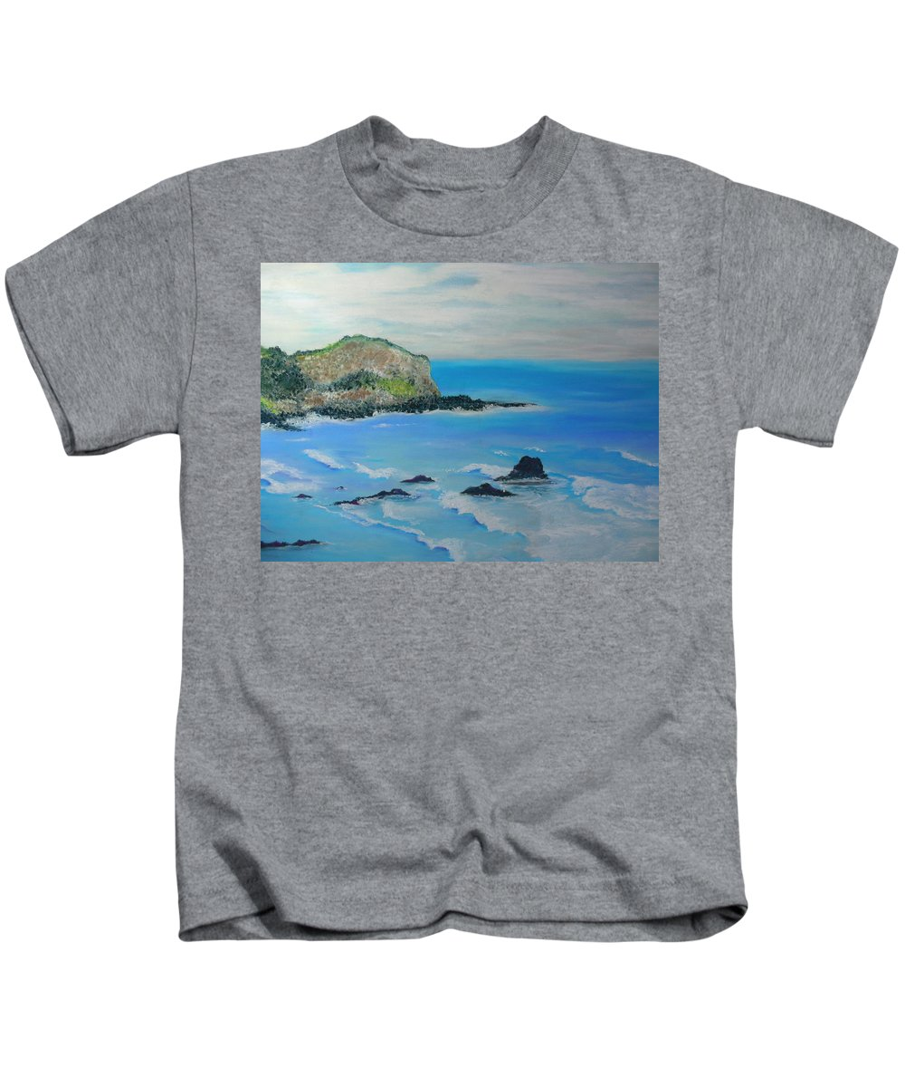 Hawaii Kids T-Shirt featuring the painting Aloha by Melinda Etzold