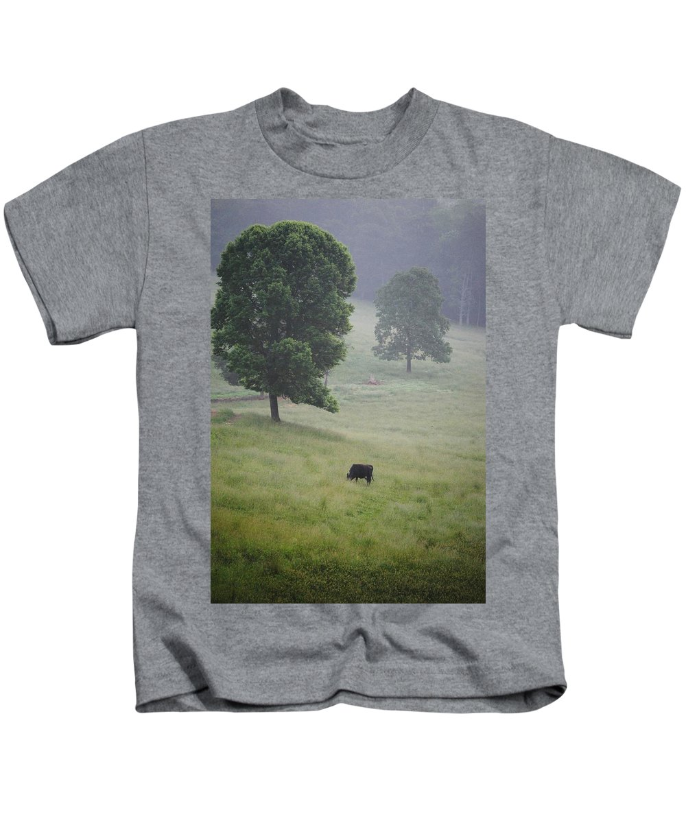 Meadow Kids T-Shirt featuring the photograph Alone In The Meadow by Eric Liller