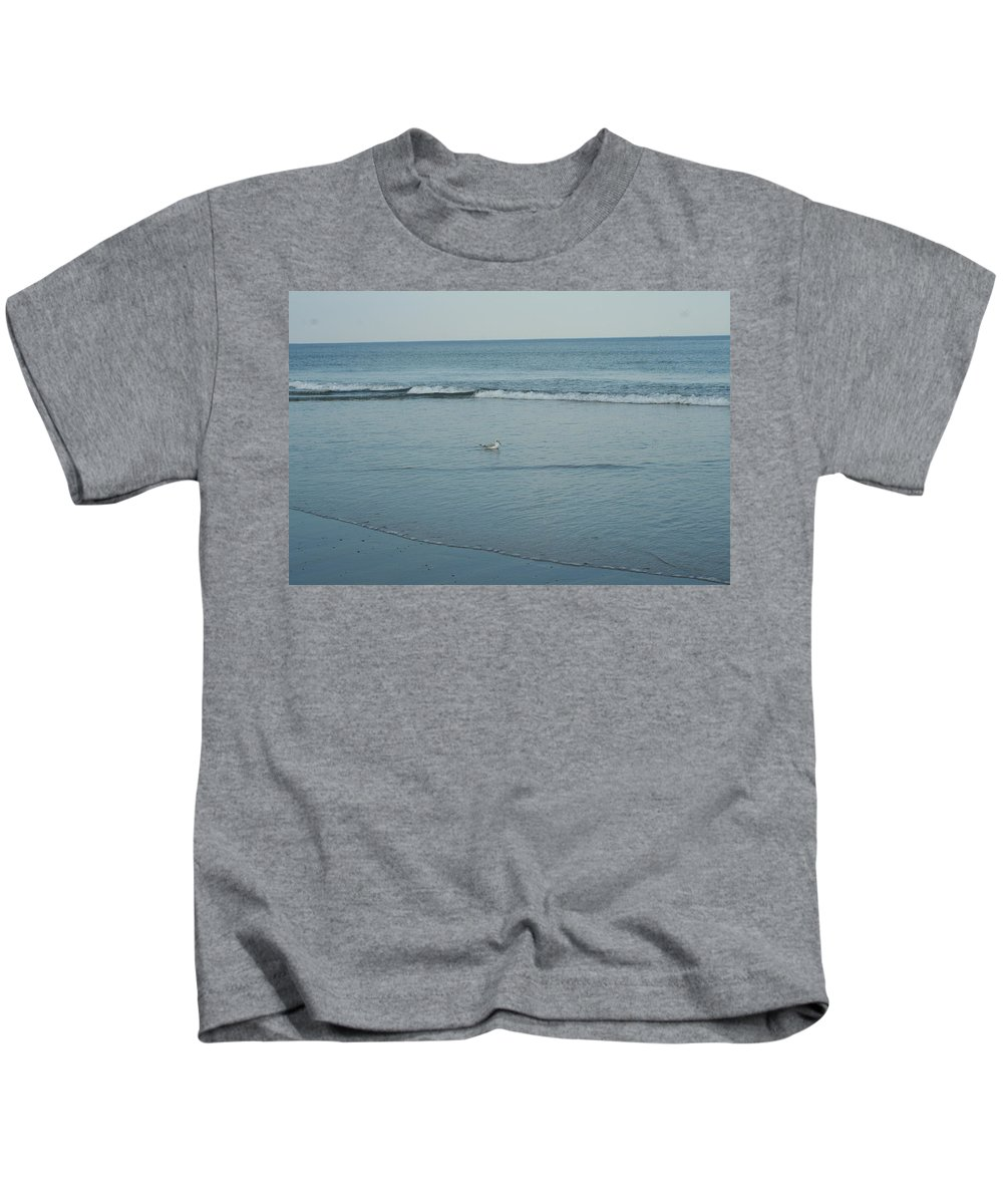 Photography Kids T-Shirt featuring the photograph Alone Time by Barbara S Nickerson