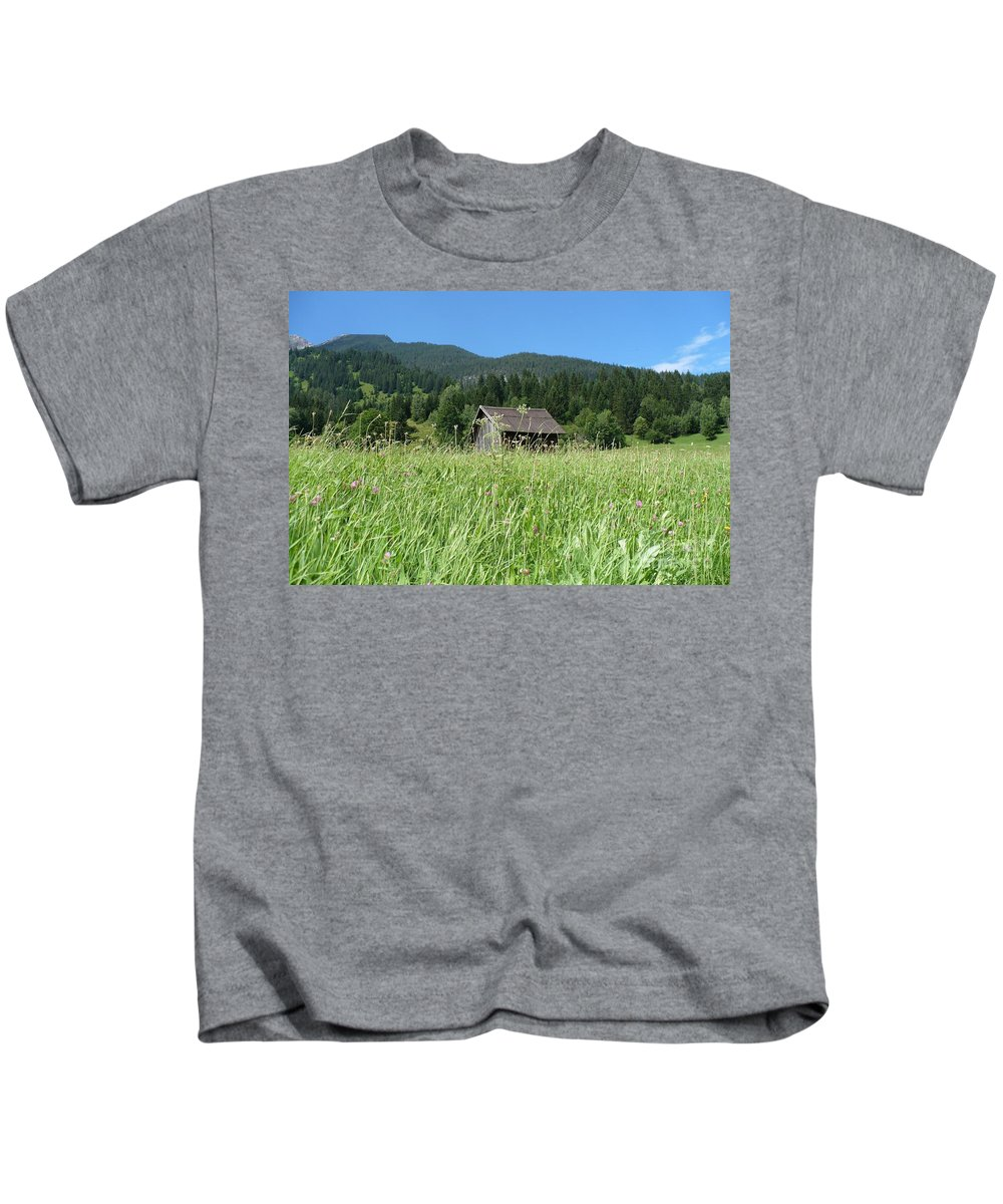 Alpine Kids T-Shirt featuring the photograph Alpine Meadow by Carol Groenen
