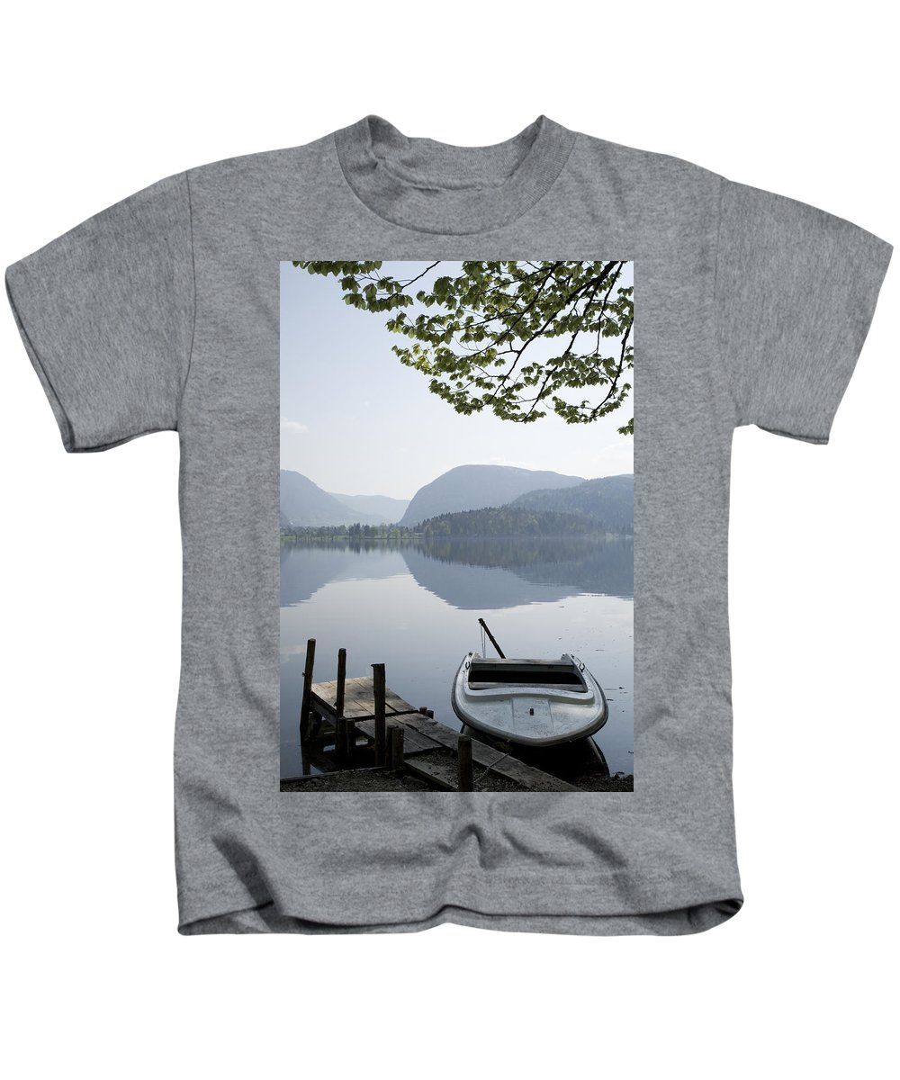 Reflections Kids T-Shirt featuring the photograph Alpine Moods by Ian Middleton