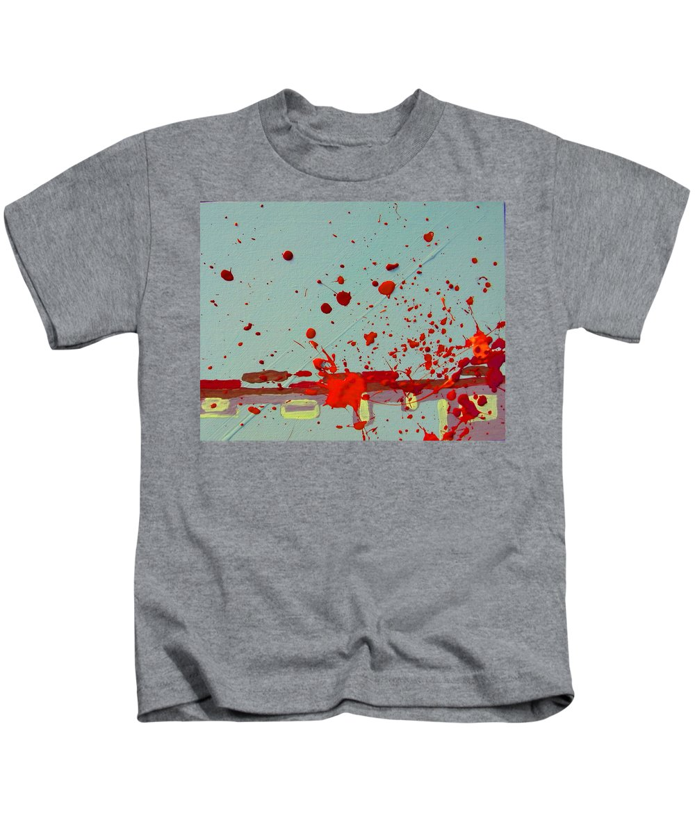 Abstract Kids T-Shirt featuring the painting Always Under Control by Lenore Senior