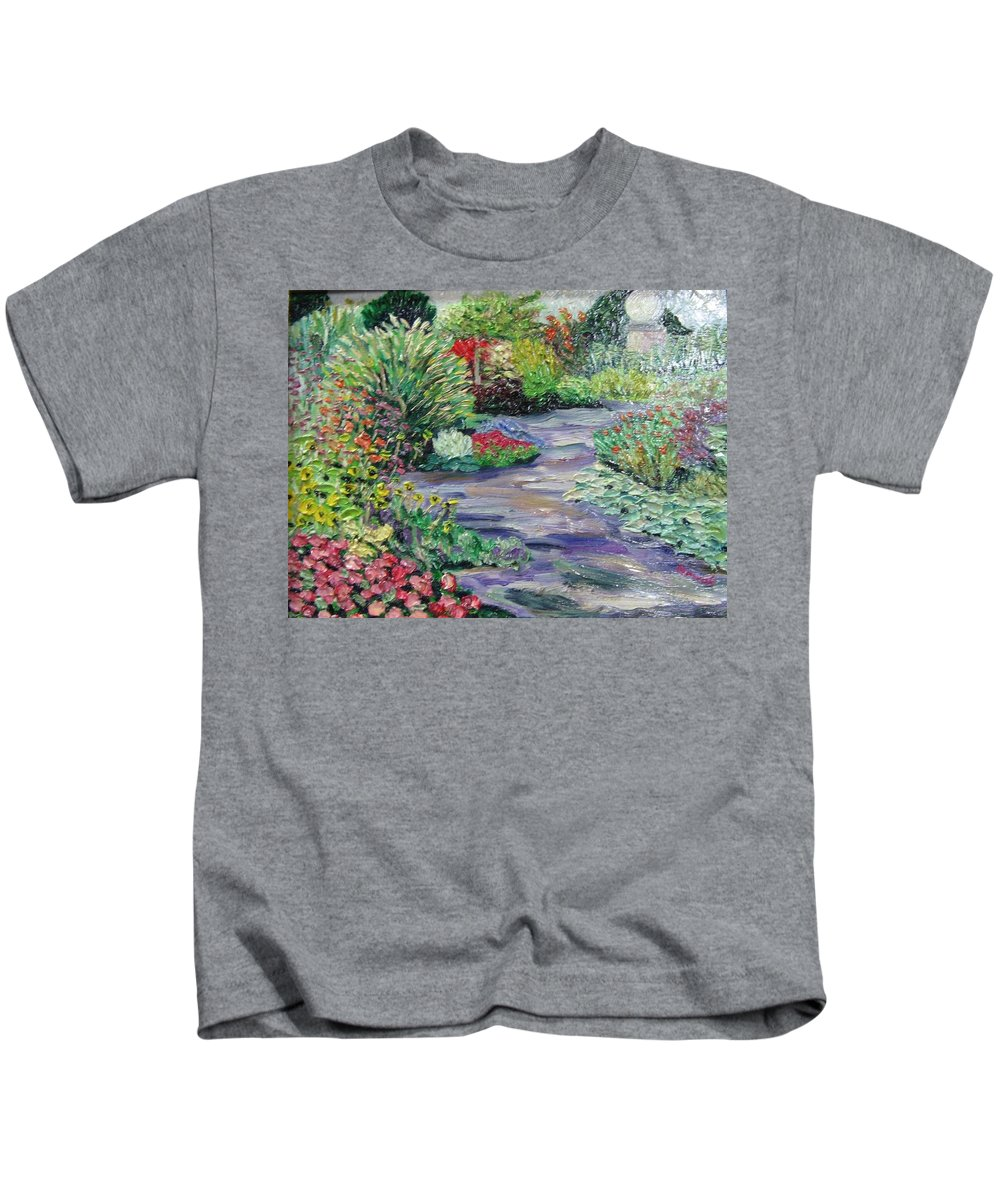 Park Kids T-Shirt featuring the painting Amelia Park Blossoms by Richard Nowak