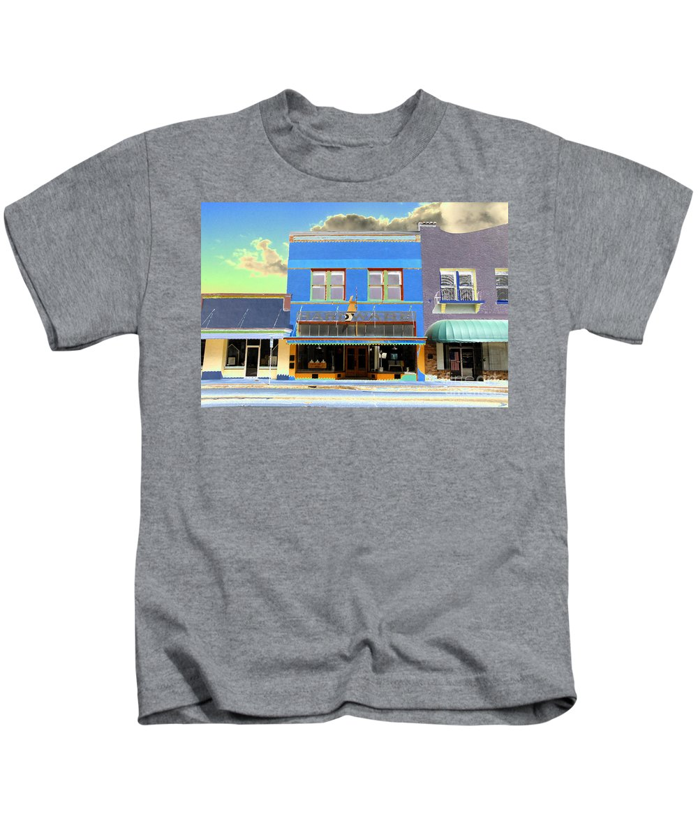 Art Kids T-Shirt featuring the painting American Hardware by David Lee Thompson