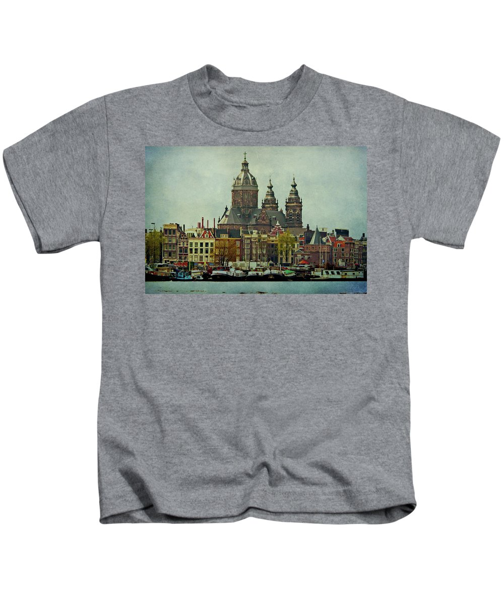 Amsterdam Kids T-Shirt featuring the photograph Amsterdam Skyline by Jill Smith