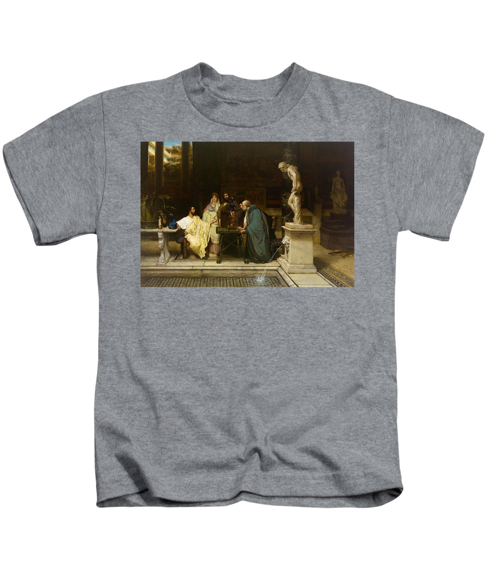 Painting Kids T-Shirt featuring the painting An Art Lover by Mountain Dreams