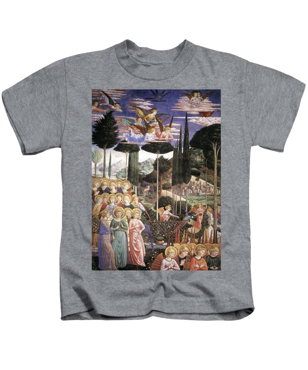 Christmas Kids T-Shirt featuring the painting Angels Art by Munir Alawi