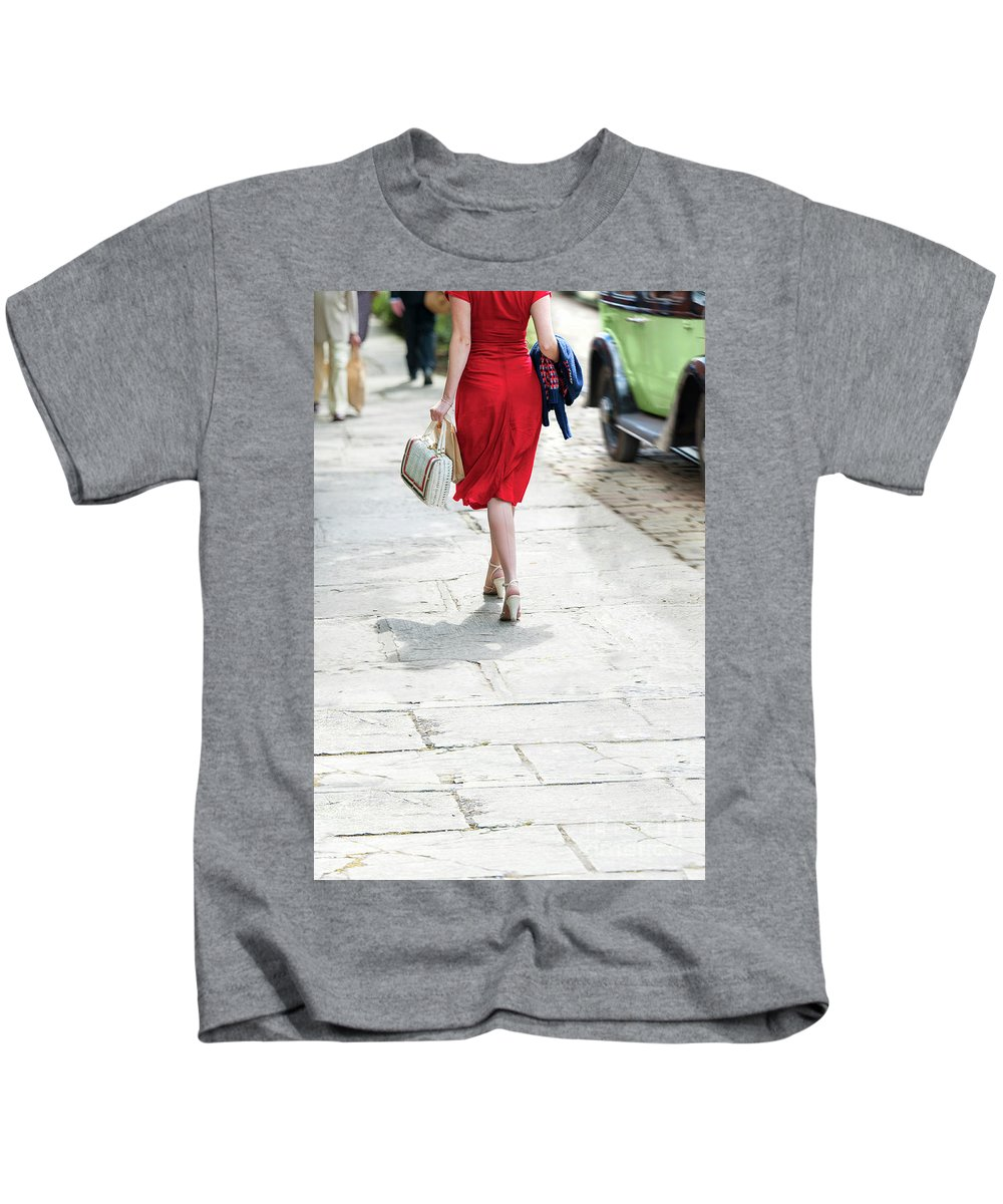 1940s Kids T-Shirt featuring the photograph Anonymous 1940s Woman by Lee Avison