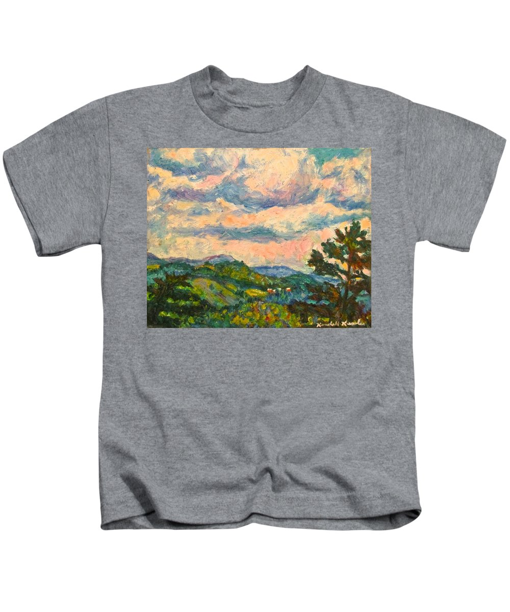 Landscape Paintings Kids T-Shirt featuring the painting Another Rocky Knob by Kendall Kessler