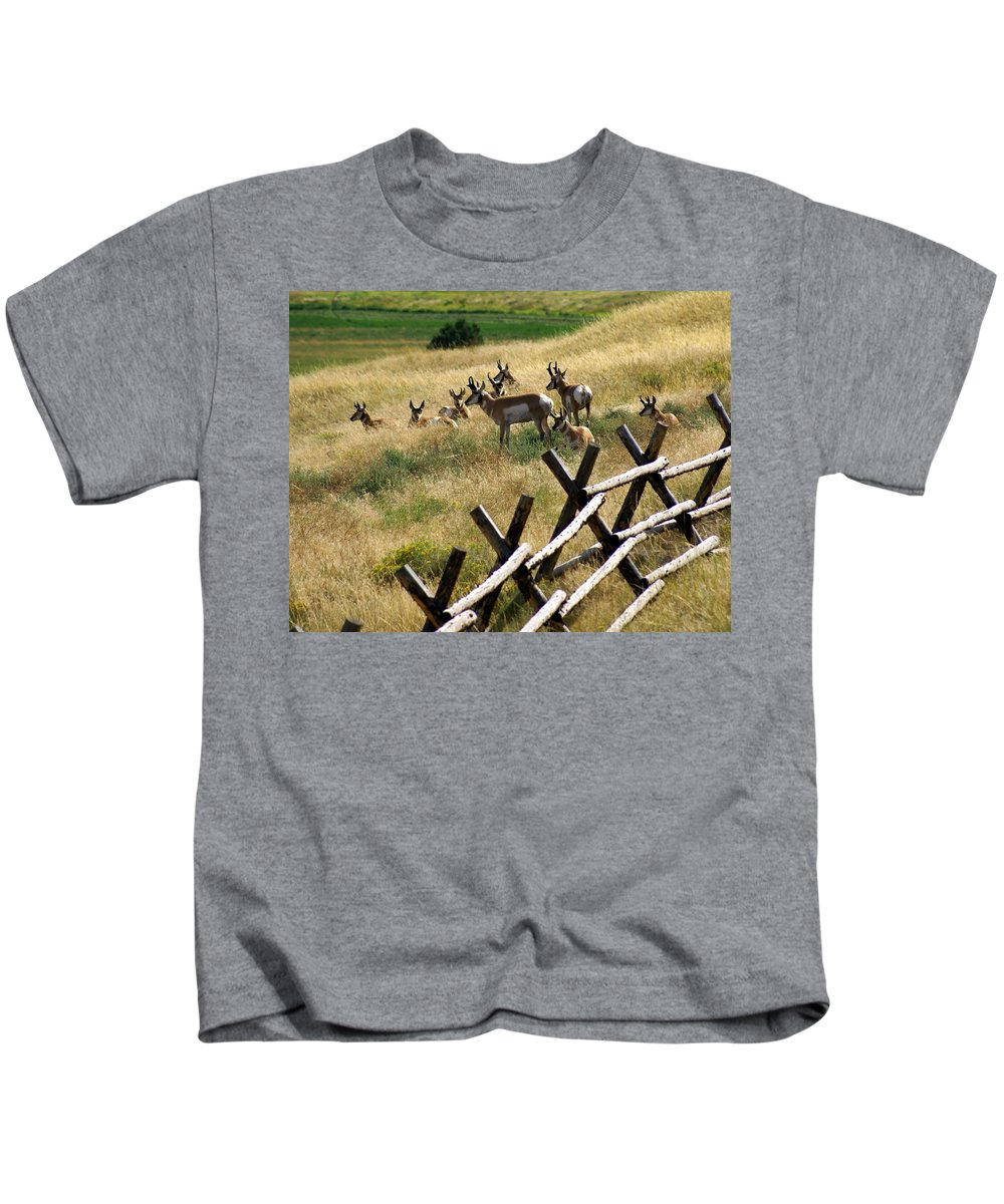 Wildlife Kids T-Shirt featuring the photograph Antelope 2 by Marty Koch