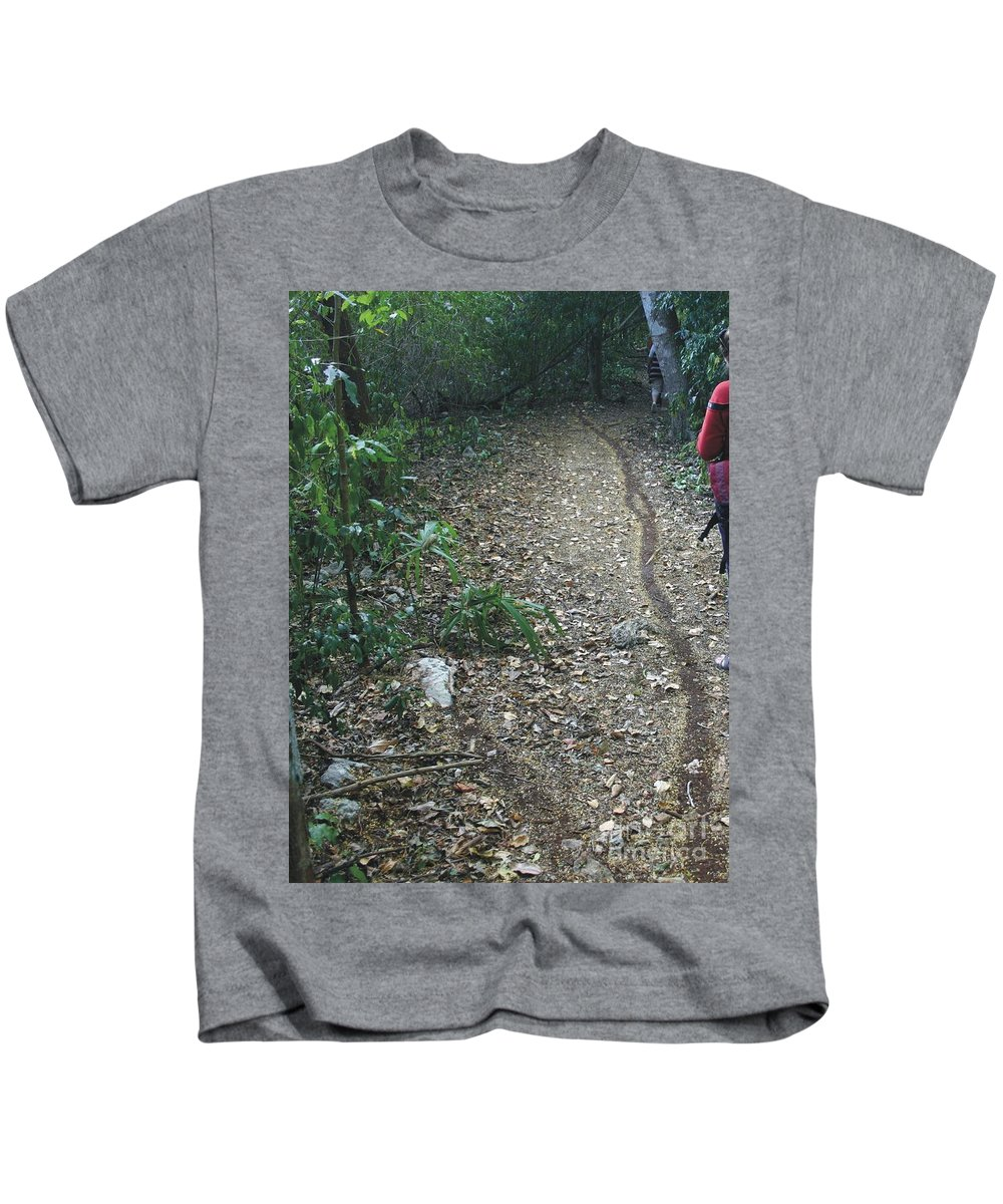 Ant Kids T-Shirt featuring the photograph Ants Highway by Michel Poulin