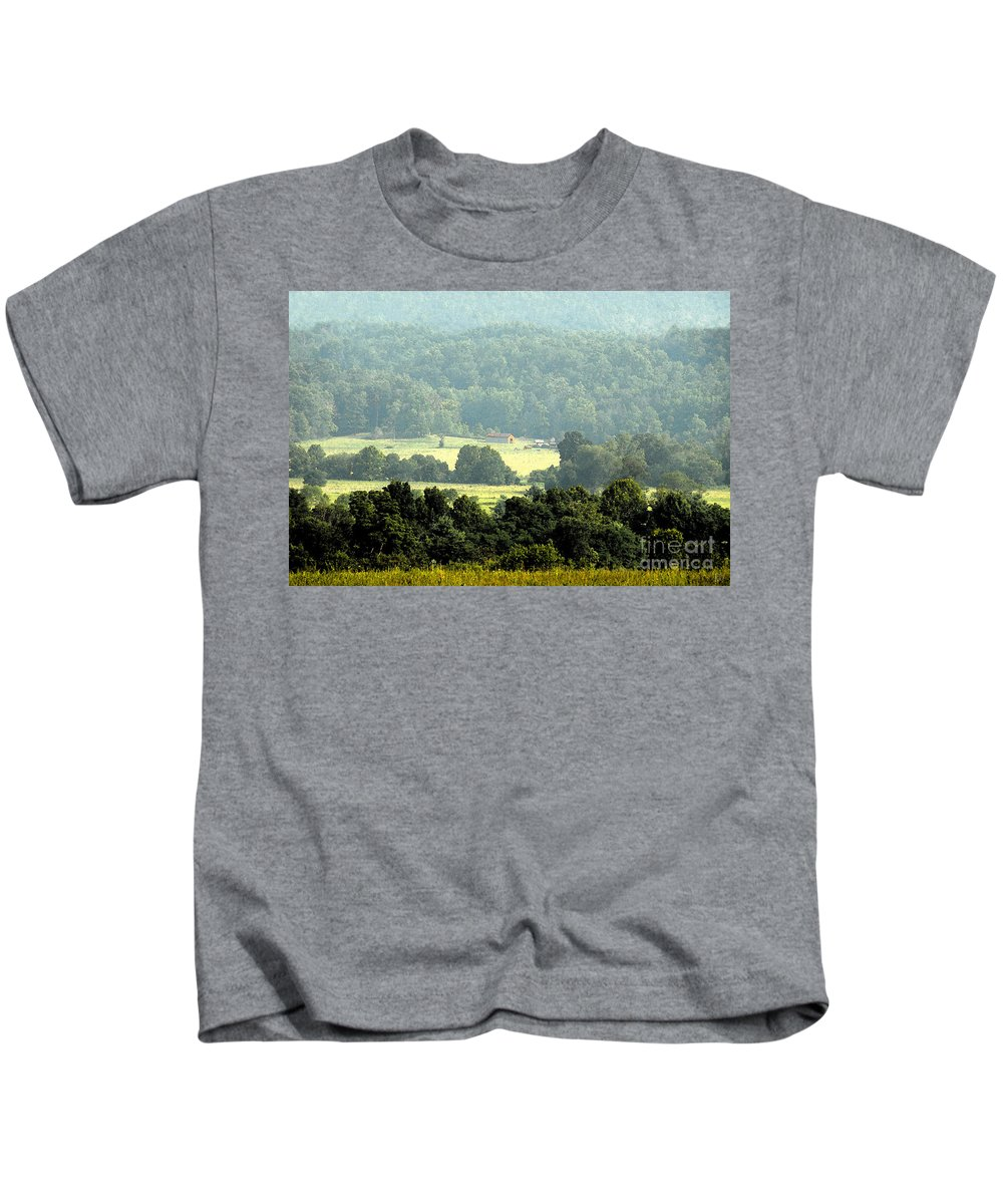 Appalachian Mountains Kids T-Shirt featuring the painting Appalachia by David Lee Thompson