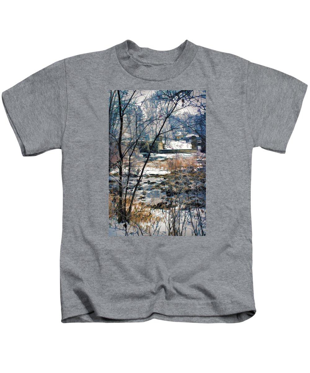 Landscape Kids T-Shirt featuring the photograph Appleton Waters by Jasmin Mori