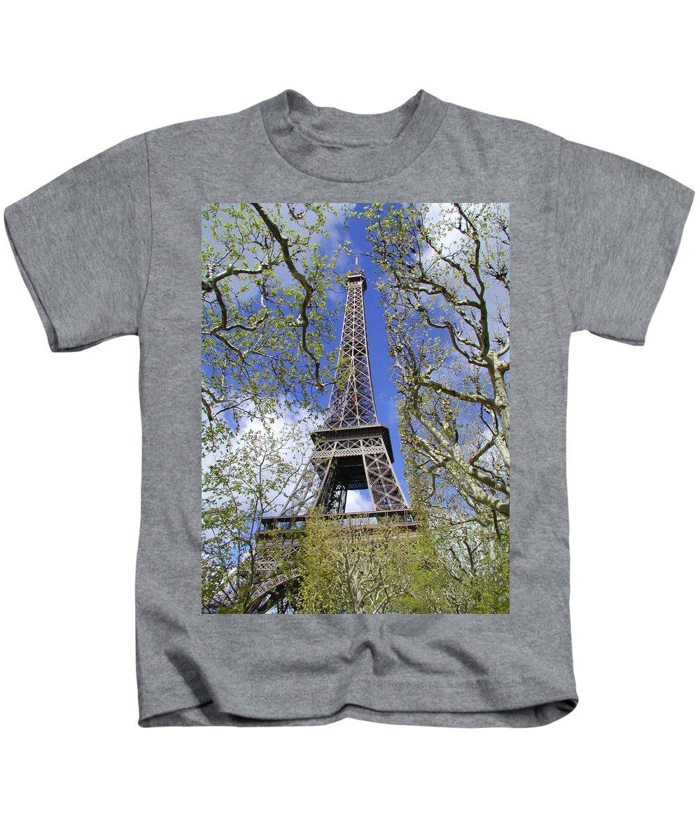 Paris Kids T-Shirt featuring the photograph April In Paris by Tom Reynen