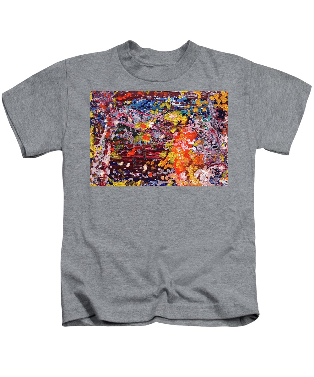 Fusionart Kids T-Shirt featuring the painting Aquarium by Ralph White