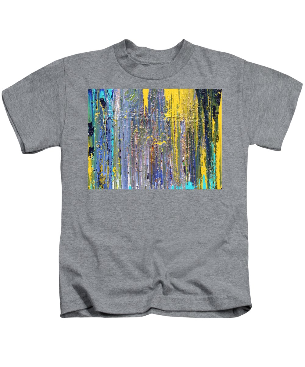 Fusionart Kids T-Shirt featuring the painting Arachnid by Ralph White