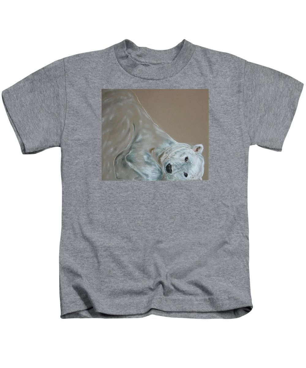 Polar Bear Kids T-Shirt featuring the drawing Arctic Frolic by Cori Solomon