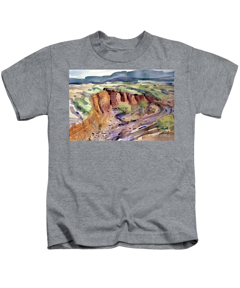 Arroyo Kids T-Shirt featuring the painting Arroyo by Donald Maier
