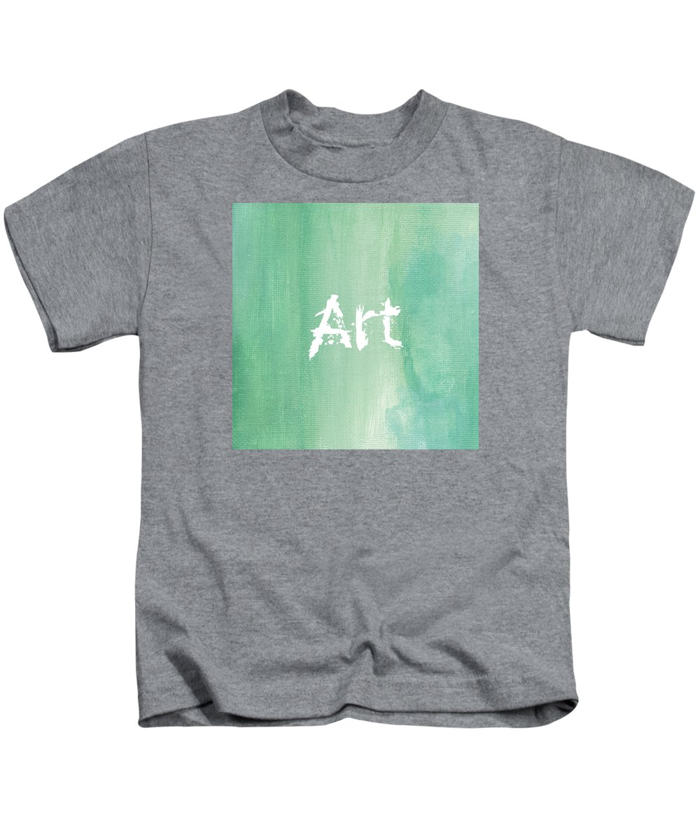 Love Kids T-Shirt featuring the mixed media ART by Kathleen Wong