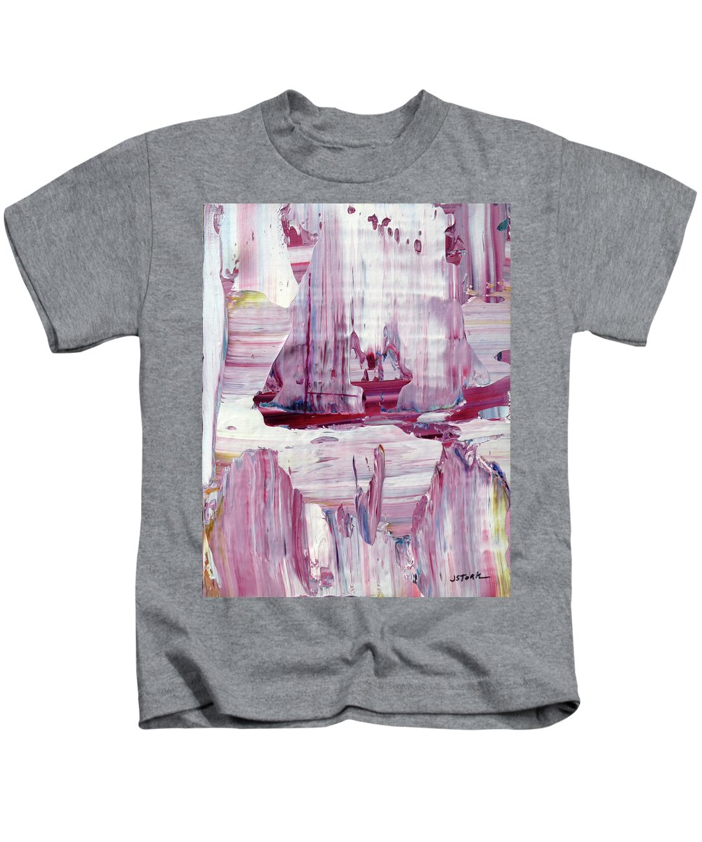 Sailing Kids T-Shirt featuring the painting Artic Sailing by Janice Stork