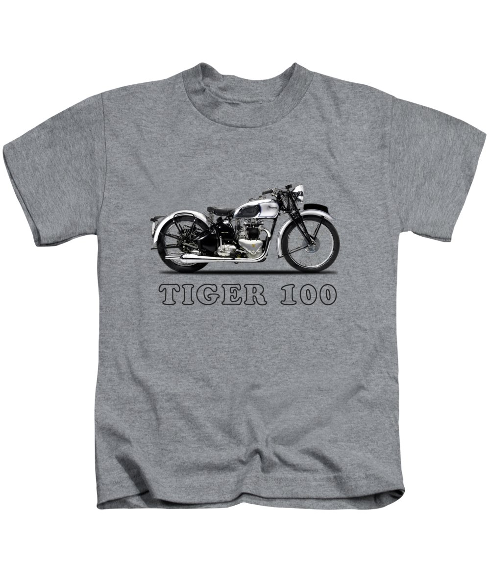 Triumph Tiger Kids T-Shirt featuring the photograph Triumph Tiger 100 1939 by Mark Rogan