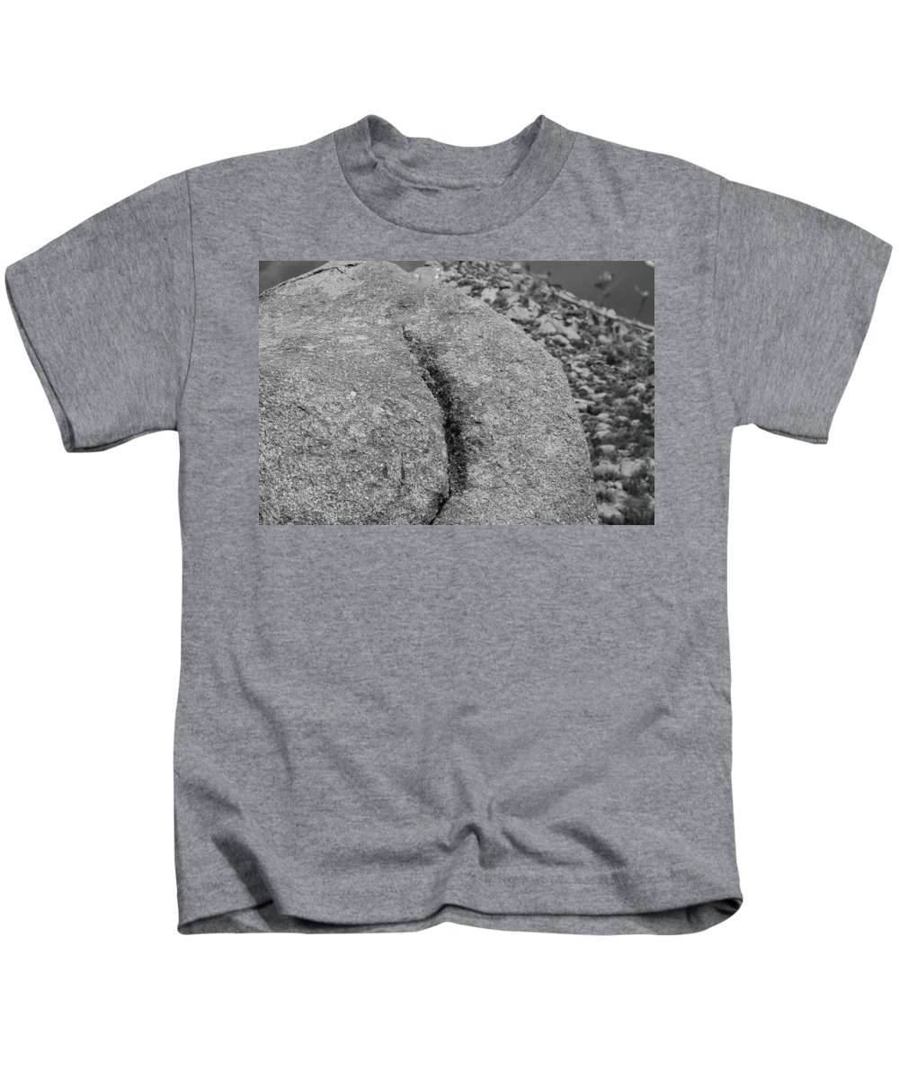 Rock Kids T-Shirt featuring the photograph Ass Crack New Mexico In Black And White by Rob Hans