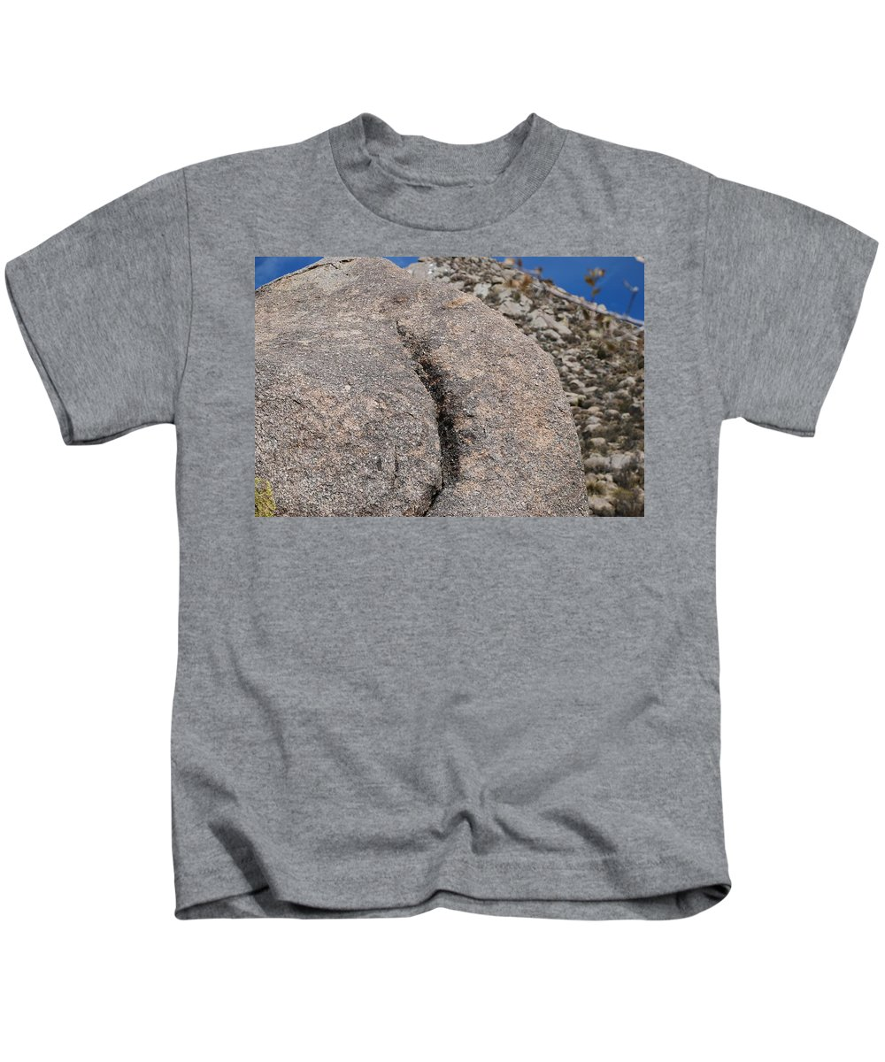 Pop Art Kids T-Shirt featuring the photograph Ass Rock New Mexico by Rob Hans