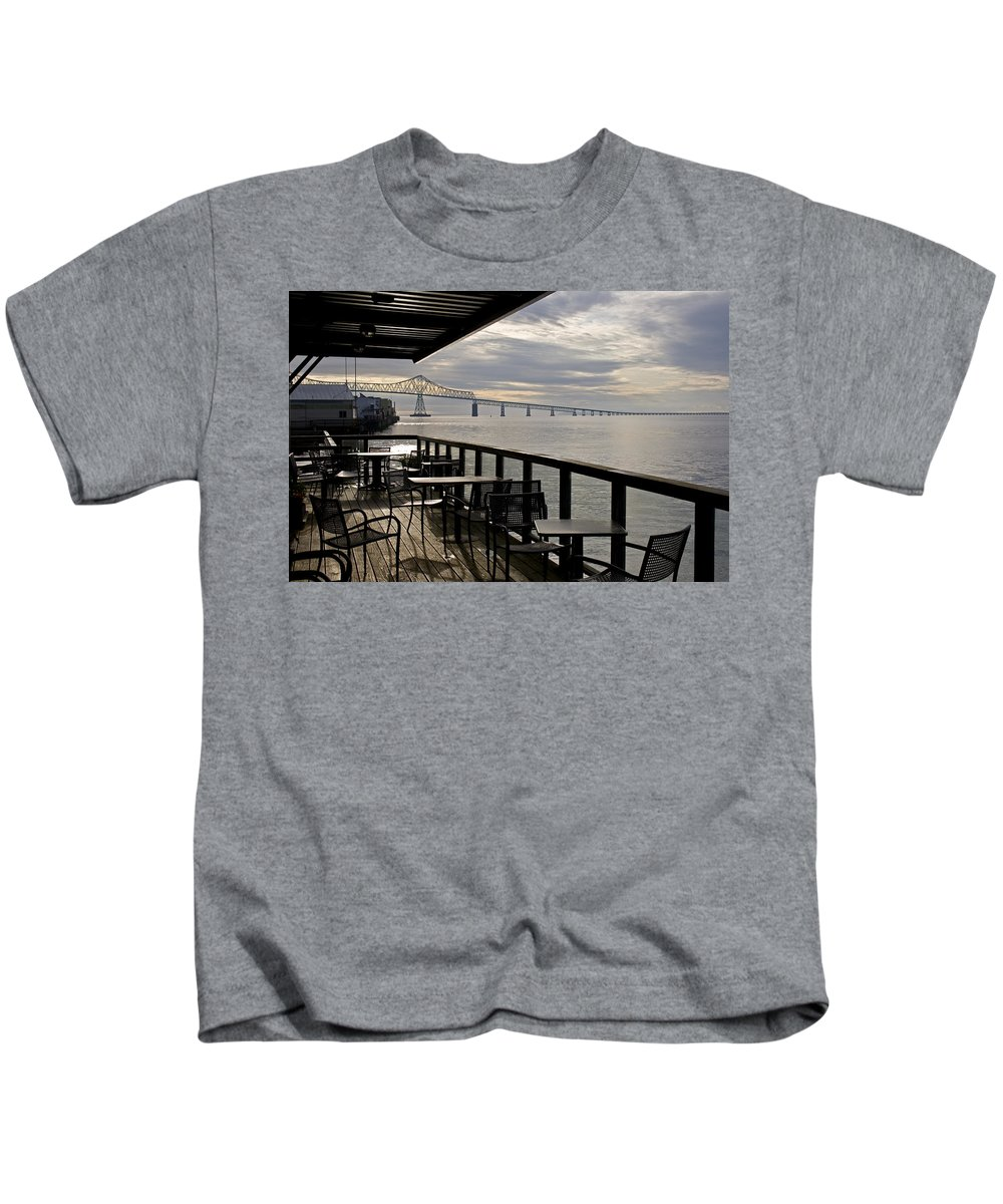 Scenic Kids T-Shirt featuring the photograph Astoria by Lee Santa