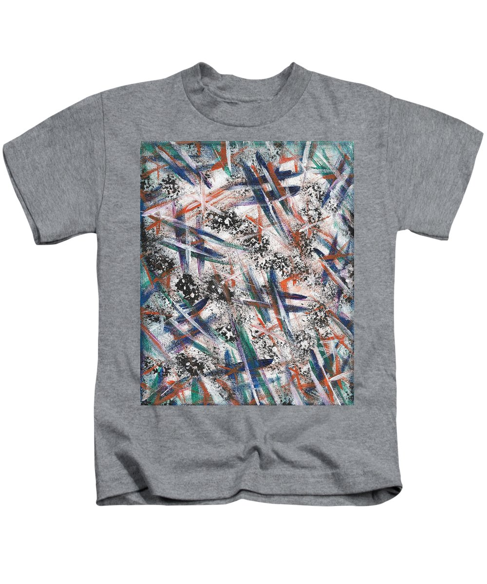 Original Painting Kids T-Shirt featuring the painting At A Crossroad by Eric Atherton