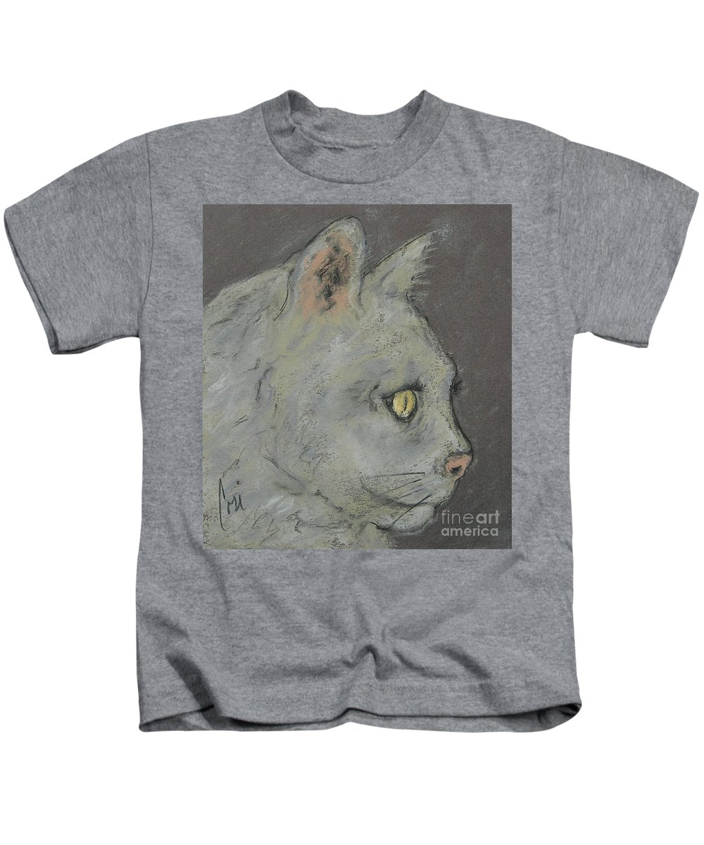 Pastels Kids T-Shirt featuring the drawing At Peace by Cori Solomon