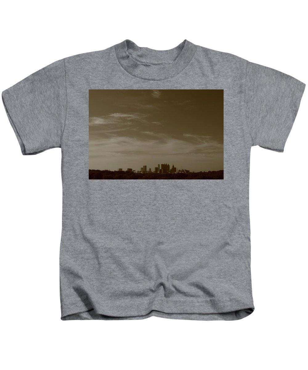 Atlanta Kids T-Shirt featuring the photograph Atl by Skyler Whitehead