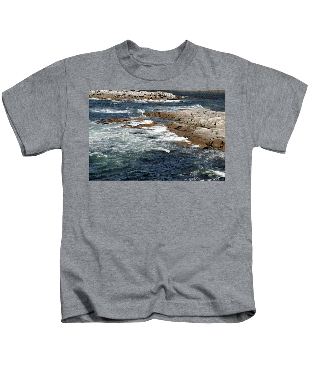 Atlantic Ocean Kids T-Shirt featuring the photograph Atlantic by Colleen English