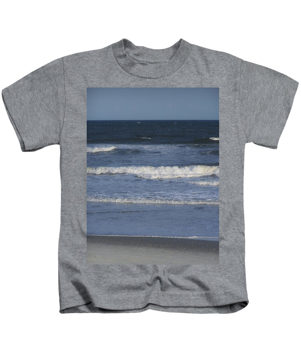 Atlantic Kids T-Shirt featuring the photograph Atlantic Ocean Gradient by Teresa Mucha