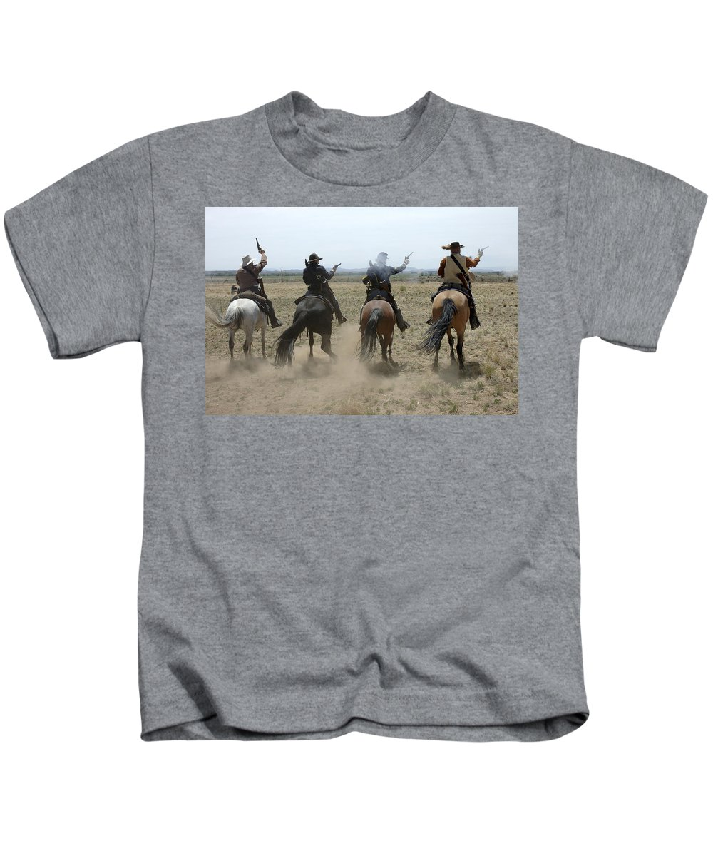 Old West Kids T-Shirt featuring the photograph Attack by Jerry McElroy