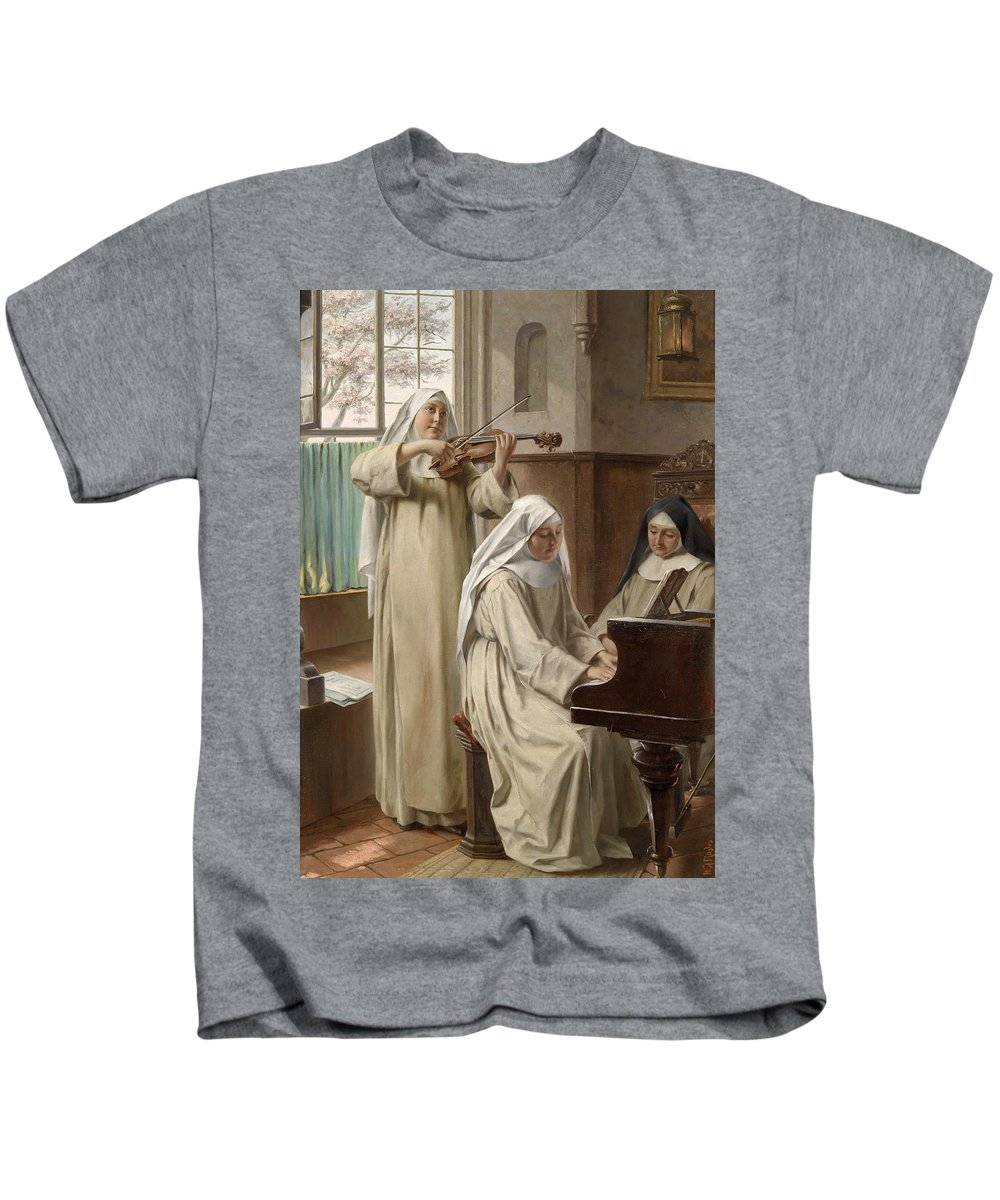 August Wilhelm Roesler Kids T-Shirt featuring the painting August Wilhelm Roesler by August Wilhelm Roesler