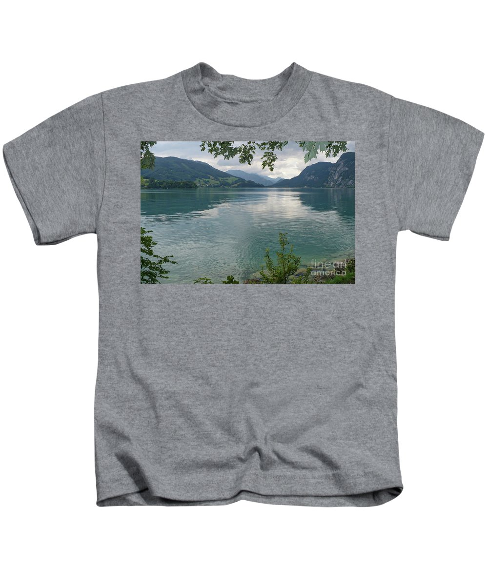 Austria Kids T-Shirt featuring the photograph Austrian Lake by Carol Groenen