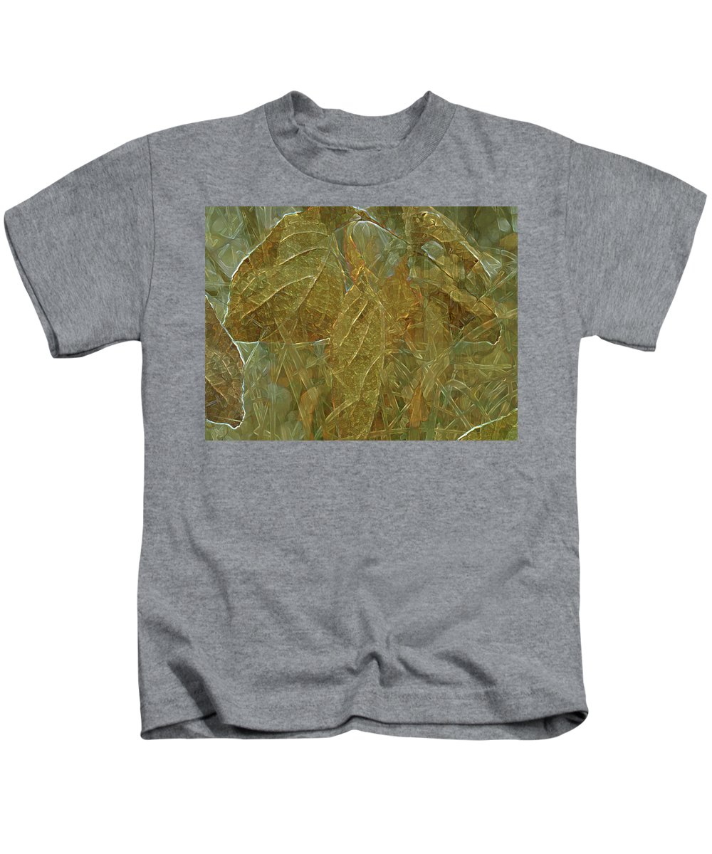 Digital Art Kids T-Shirt featuring the digital art Autumn Reverie by Lynda Lehmann