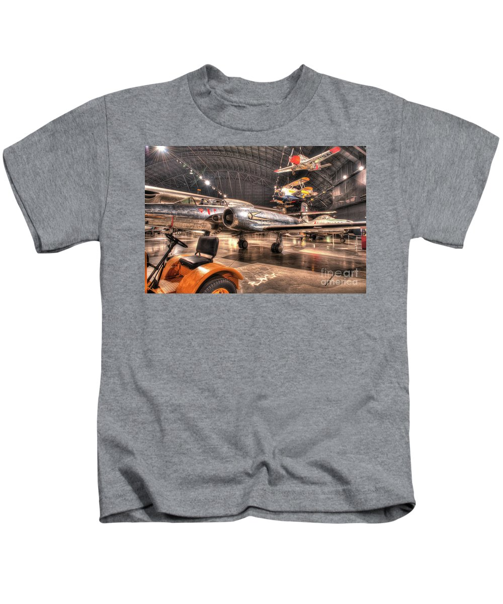 Dayton Kids T-Shirt featuring the photograph Avro Cf-100 Mk Iv Canuck by Greg Hager