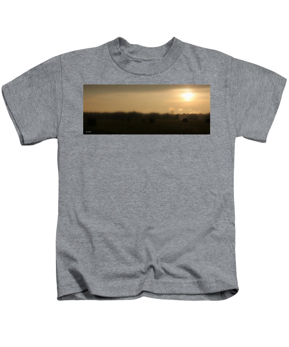 Bailed Out Kids T-Shirt featuring the photograph Bailed Out by Ed Smith