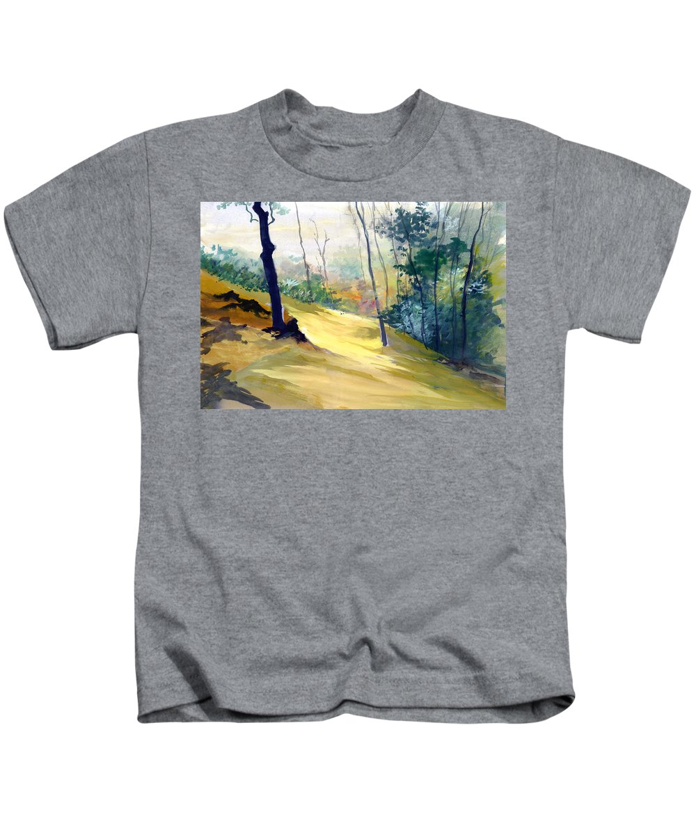 Landscape Kids T-Shirt featuring the painting Balance by Anil Nene