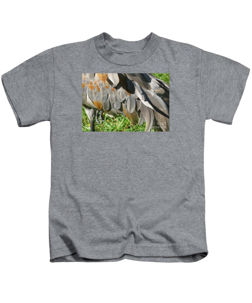 Bird Kids T-Shirt featuring the photograph Balancing Act by Ann Horn