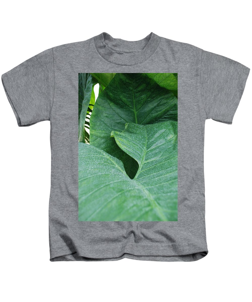 Macro Kids T-Shirt featuring the photograph Banana Leaves by Rob Hans