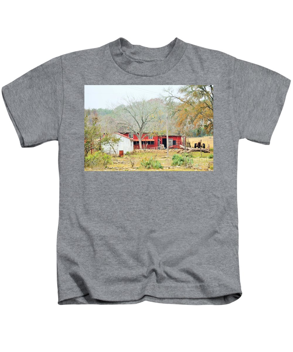 Kids T-Shirt featuring the photograph Barn by Jeff Downs