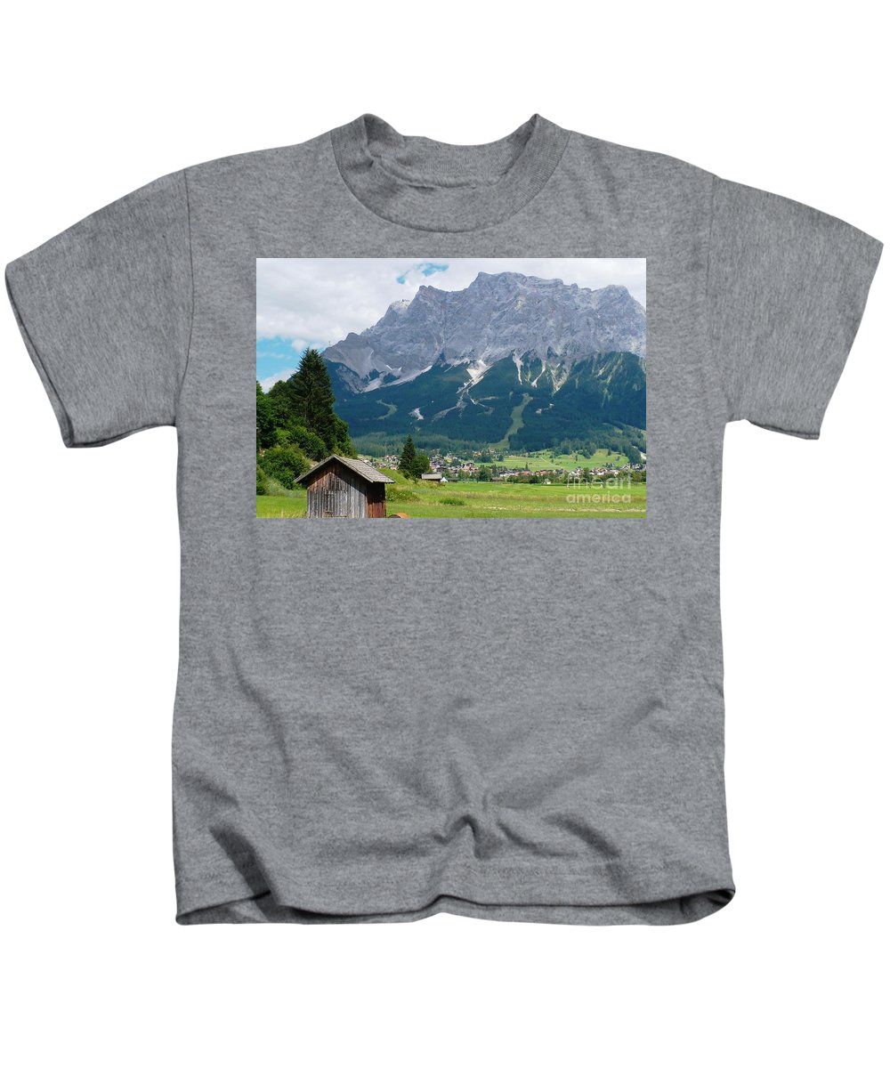 Landscape Kids T-Shirt featuring the photograph Bavarian Alps Landscape by Carol Groenen