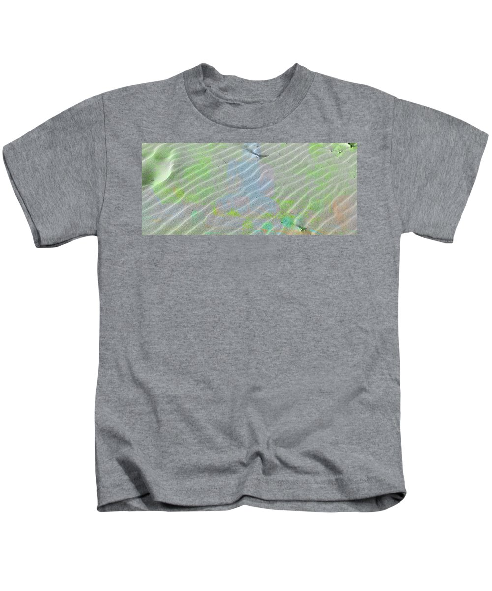 Coloured Sand Kids T-Shirt featuring the photograph Beachscape Tranquility by Anthony Robinson