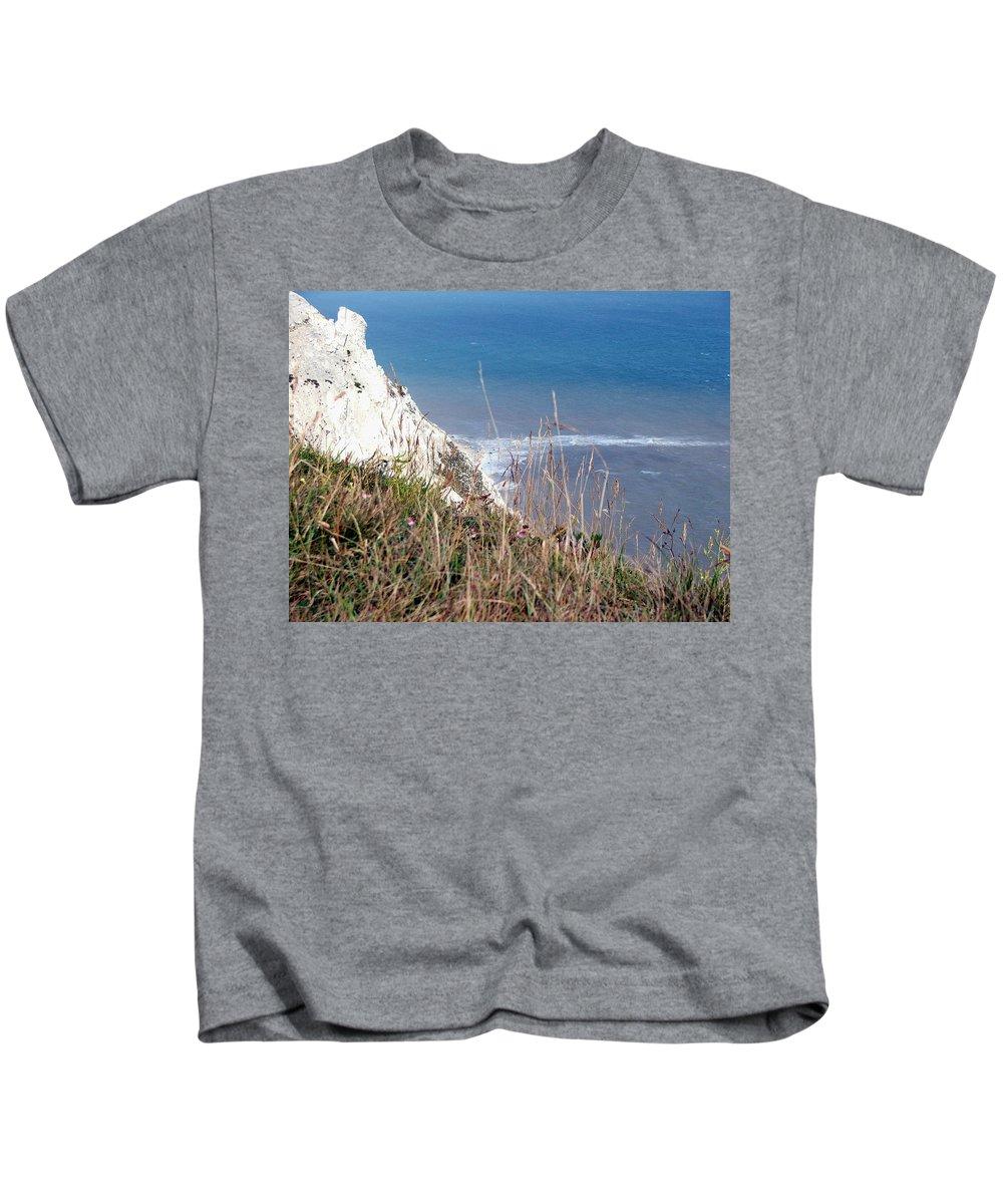Beachy Head Kids T-Shirt featuring the photograph Beachy Head Sussex by Heather Lennox